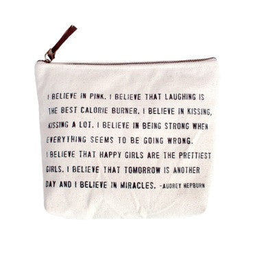 I believe in pink Quote Canvas Bag