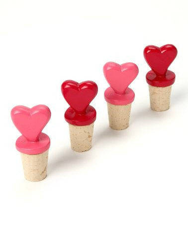 Heart Bottle Toppers - Set of 4