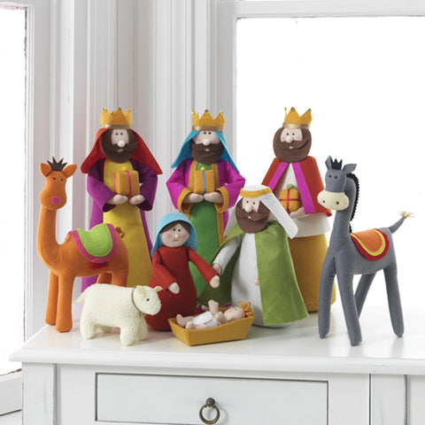 "15.5"" Colorful Plush Nativity"