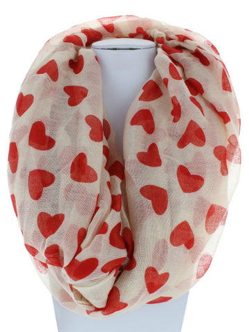 Heart Full Infinity Scarf - Red