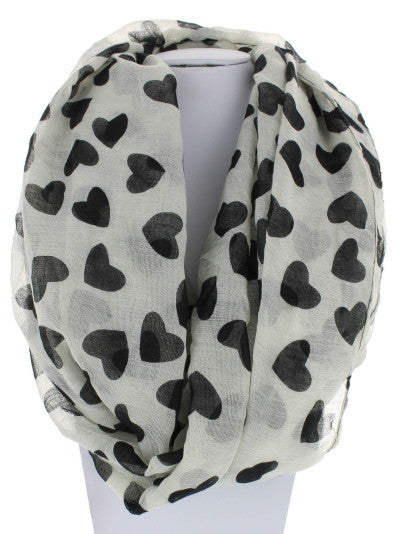 Heart Full Infinity Scarf - Black