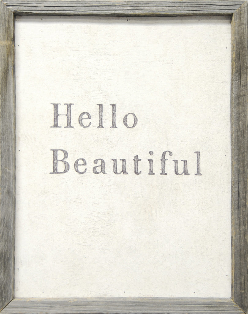 Hello Beautiful Art Print - Framed