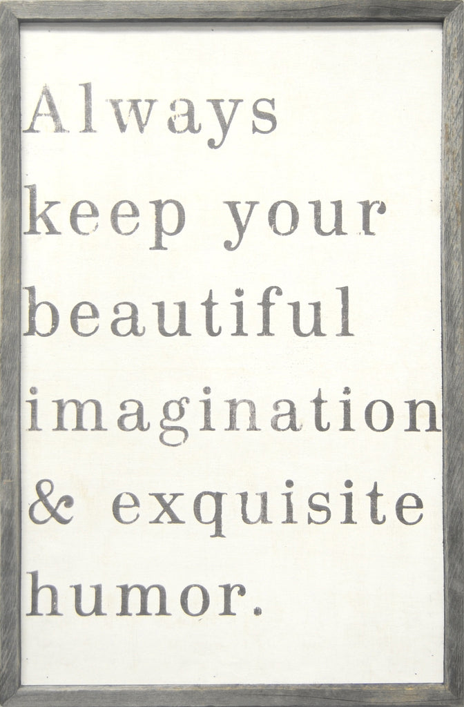 Beautiful Imagination Art Print - Framed