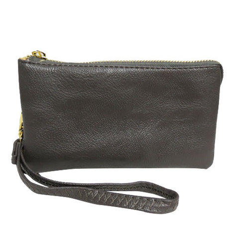 Jane 5 Compartment Wristlet - Gray