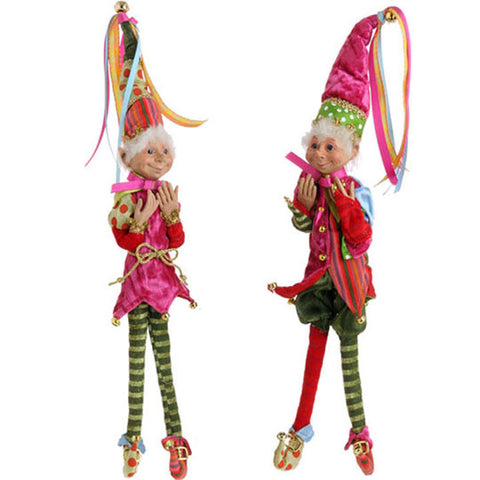 Pix & Trix - Posable Elves - Set of 2