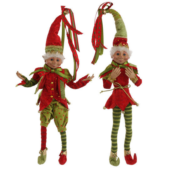 "20"" Posable Elves - Set of 2"