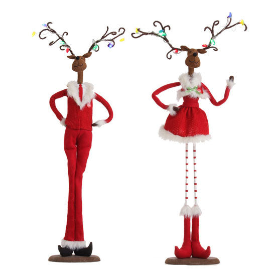 Large Lighted Deer Couple