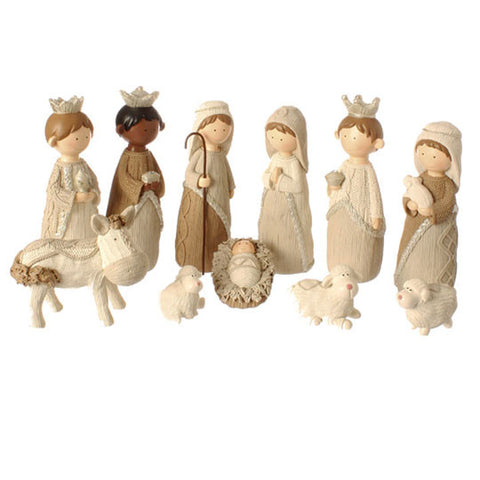 "8.5"" Faux Knit Nativity"