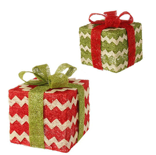 Lighted Chevron Presents - Set of 2