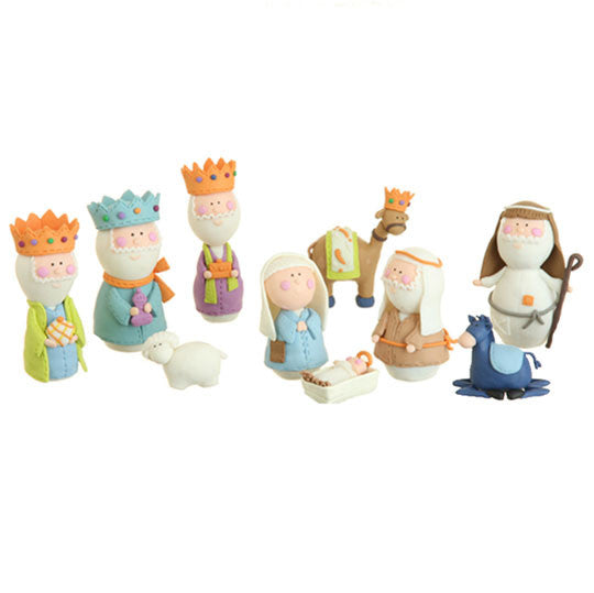 Clay Dough Nativity Set