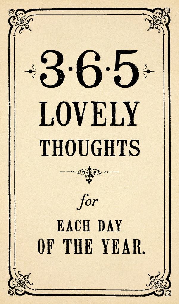 365 Lovely Thoughts Notepad