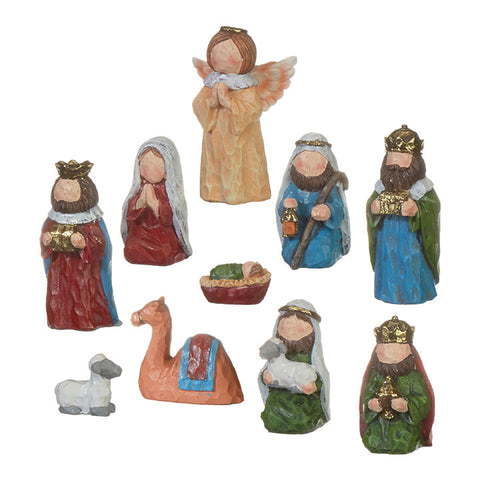 "3.75"" Multicolored Nativity"
