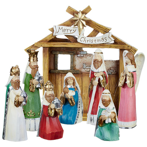 "12"" Nativity With Creche"