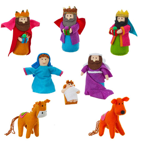 "5.5"" Colorful Plush Nativity"