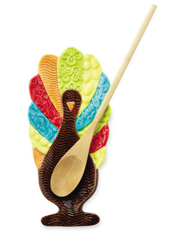 Colorful Turkey Spoon Rest