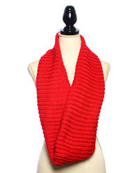 Bright Lights Infinity Scarf - Bright Red