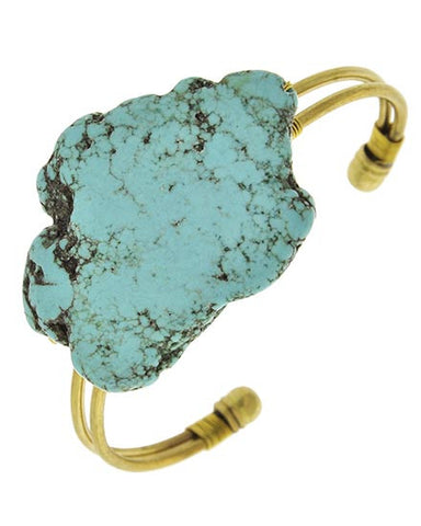 Stone Cold Turquoise Cuff Bracelet