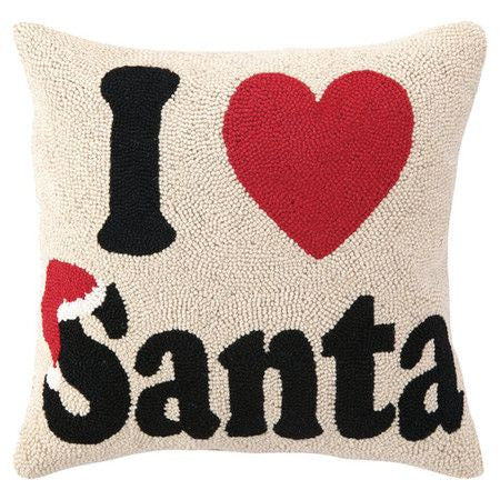 "Large ""I love Santa"" Hook Pillow"