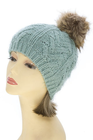 Aubrey Pom Ball Beanie - 5 Color Options