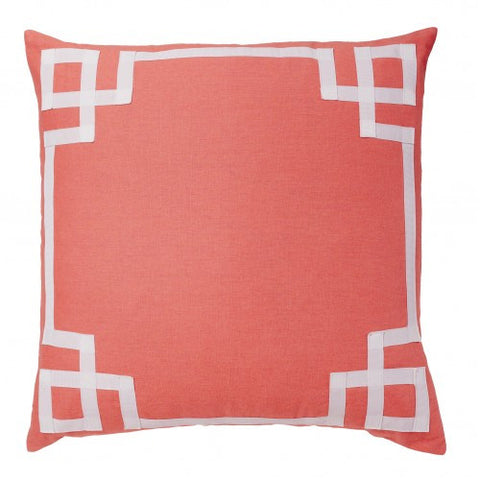 Coral Deco Pillow Cover
