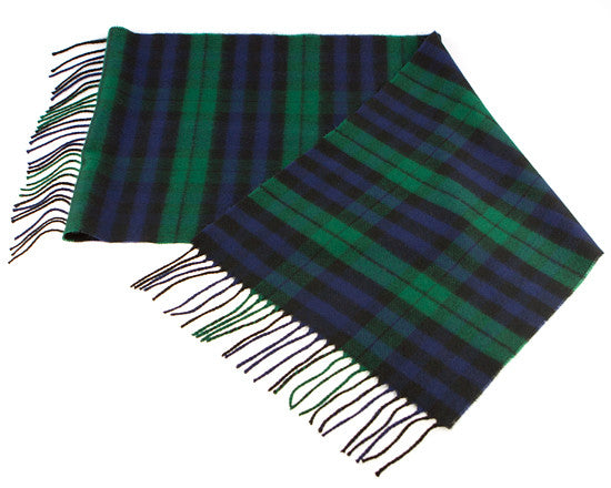 Green & Navy Plaid Scarf