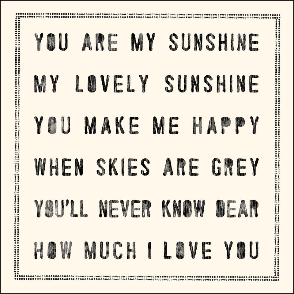 You Are My Sunshine Notecards - Set of 10