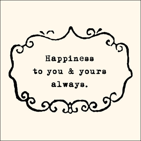 Happiness To You & Yours Notecards - Set of 10