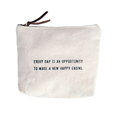 Every Day Is An Opportunity Quote Canvas Bag