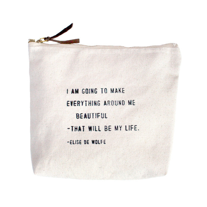 Everything Around Me Beautiful Quote Canvas Bag