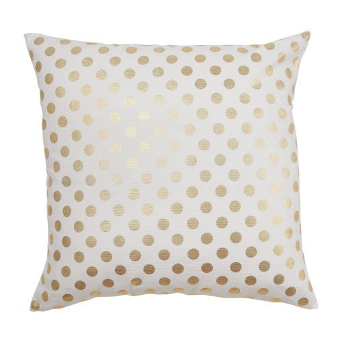 Gold Dot Pillow Cover