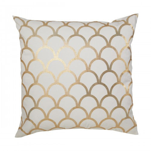 Gold Scallop Pillow