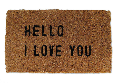 Hello I Love You Door Mat