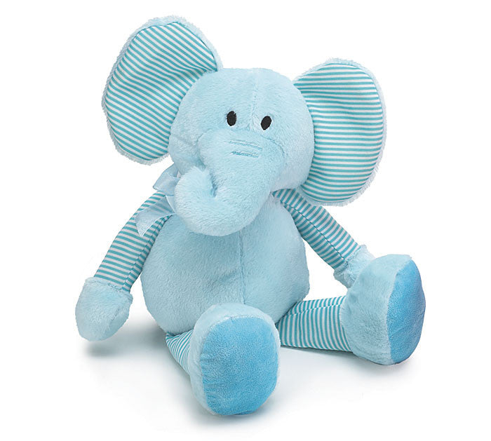 Blue Plush Elephant - Large
