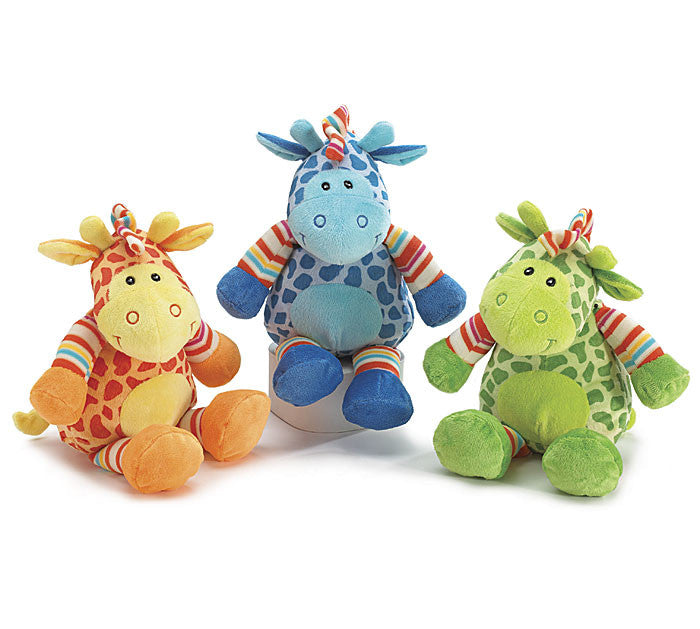 Rainbow Plush Giraffe - 3 Color options