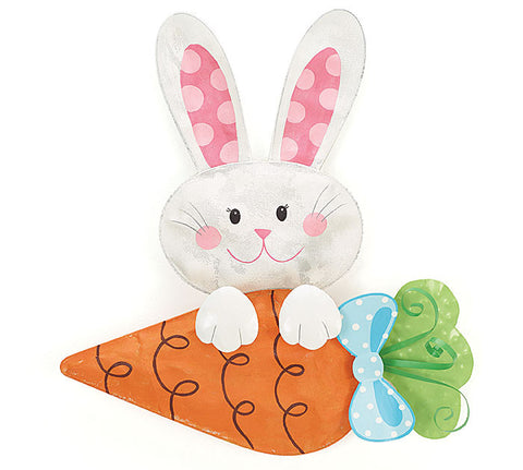 Large Hanging OR Sitting Bunny & Carrot
