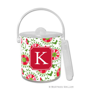 Personalized Ice Bucket - Suzani Holiday