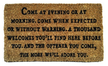 Come At Evening Door Mat