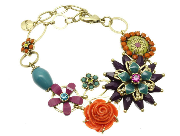 Multi-Colored Flower Bracelet