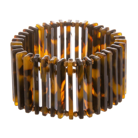 Polly Acetate Tortoise Stretch Bracelet