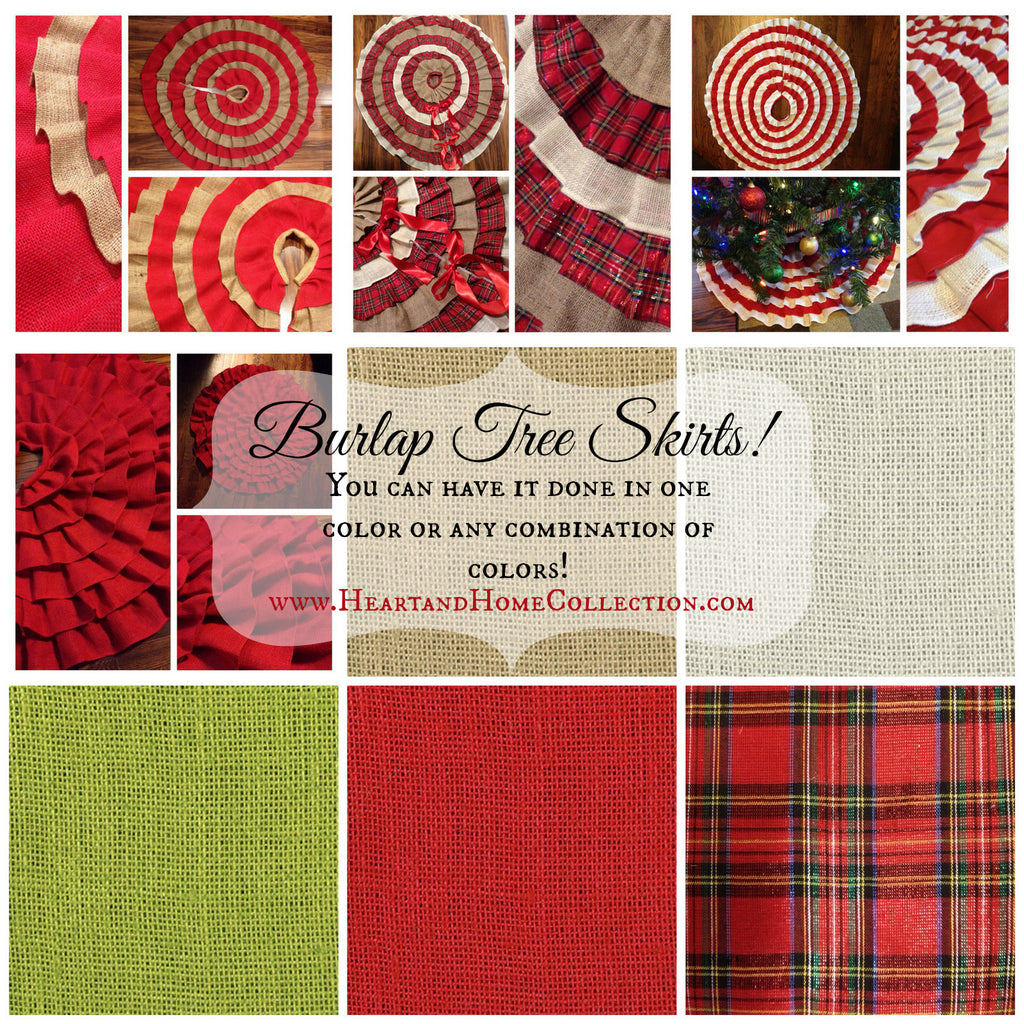 Burlap Tree Skirt - Use one color or up to 5!