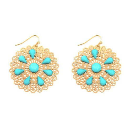 Stone Filigree Earrings