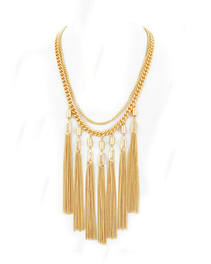 Chain Tassels Necklace
