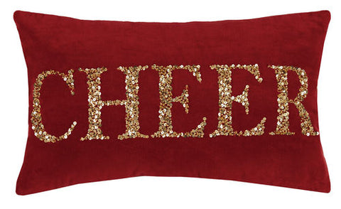 Cheer Gold Beaded Pillow
