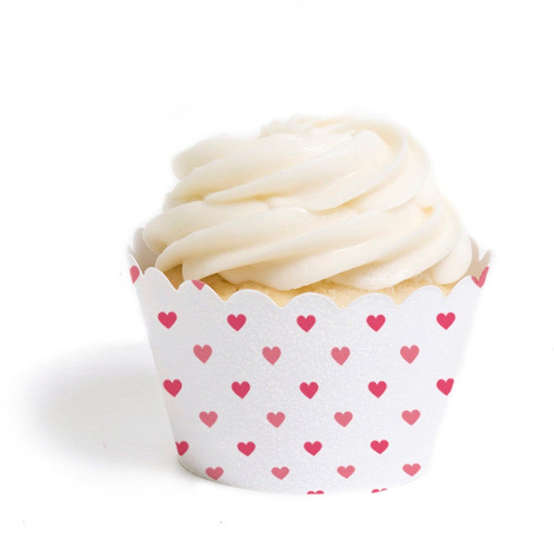 Tiny Hearts Valentine Cupcake Wrappers