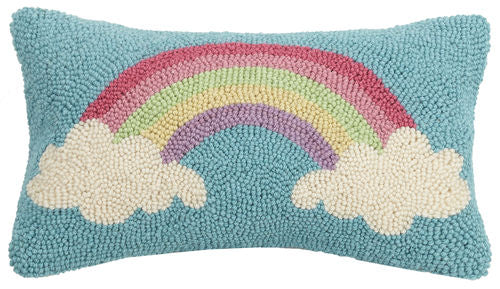Cloudy Rainbow Hook Pillow