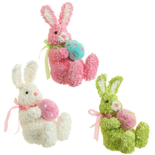 Hydrangea Bunny Holding Egg - 3 color options