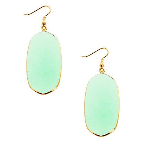 Mia Semi Precious Stone Earrings - Mint