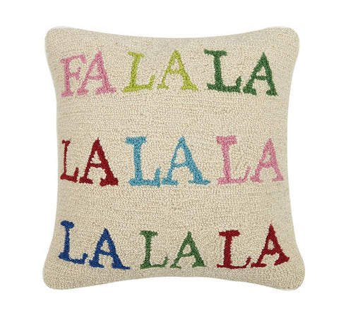 Fa La La La Colorful Hook Pillow