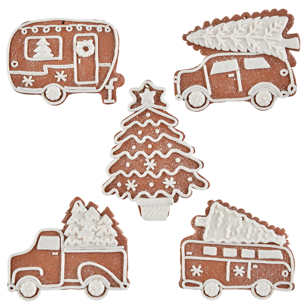 Gingerbread Ornaments - Set of 5