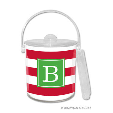 Personalized Ice Bucket - Awning Stripes